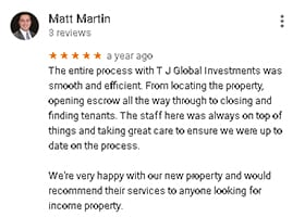 Google Review by Matt Martin