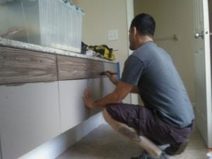 before: working to rehab cabinets